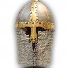 Russian Boyar Battle Helmet 14 Guage With Stand
