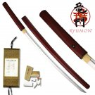 Ryumon Red Wood Japanese Shirasaya Sword