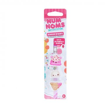 Num Noms: Strawberry Erasers 3-Pack