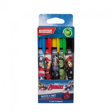 Marvel Avengers: Gel Crayons 5-Pack