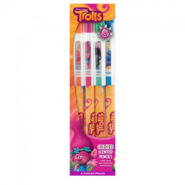 DreamWorks Trolls: Colored Smencils 4-Pack