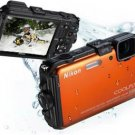 NIKON COOLPIX AW100 WI-FI WATERPROOF GPS 16MP Orange