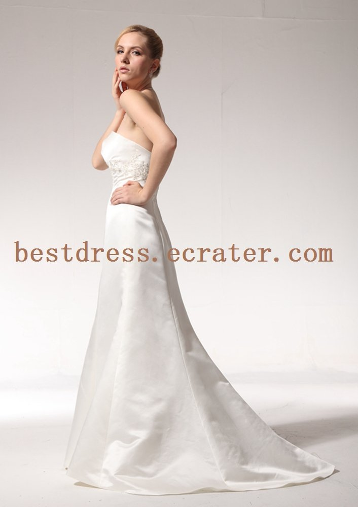 Simple Sheath Wedding Dress with Train