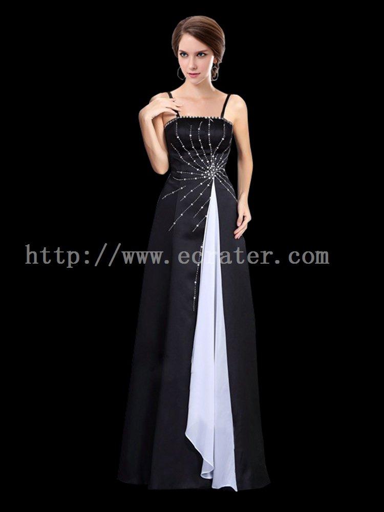 Vintage Black and White Prom Dress