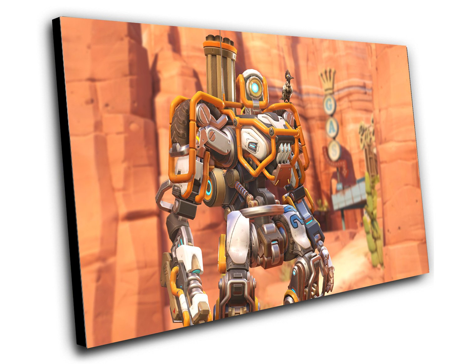 "Overwatch Anniversary Dune Buggy Bastion Game  12""x16"" (30cm/40cm) Canvas Print"