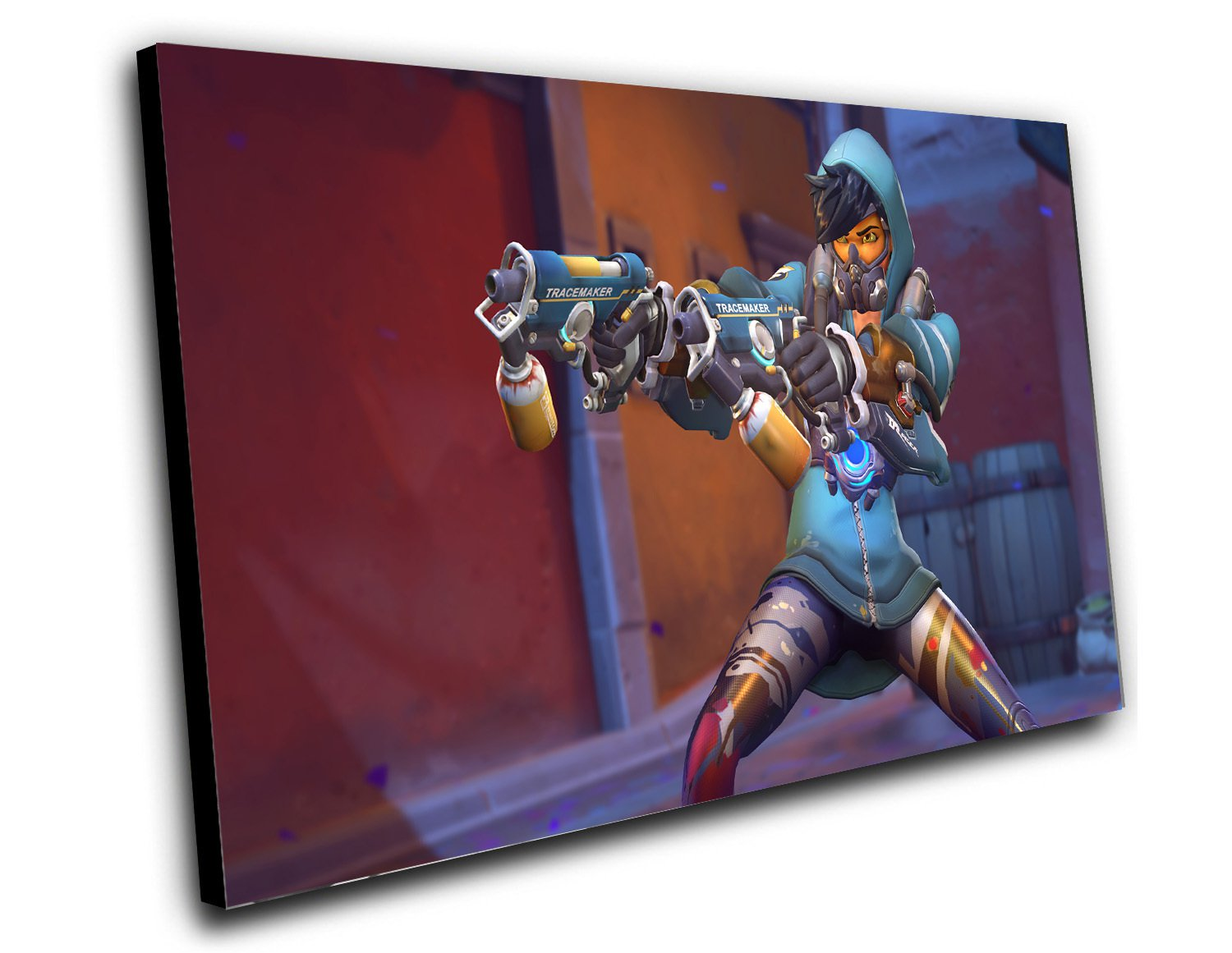 "Overwatch Anniversary Graffiti Tracer Game  12""x16"" (30cm/40cm) Canvas Print"