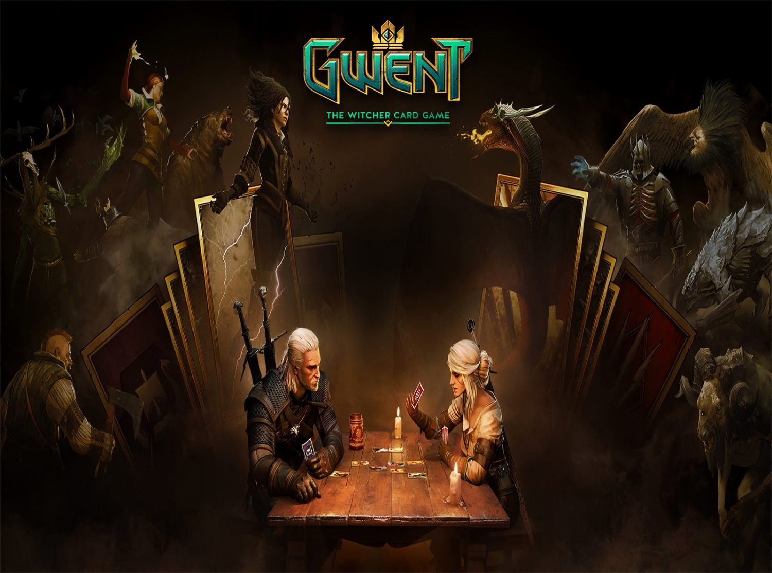 "Gwent The Witcher 3 Card Game Wild Hunt 13""x19"" (32cm/49cm) Poster"