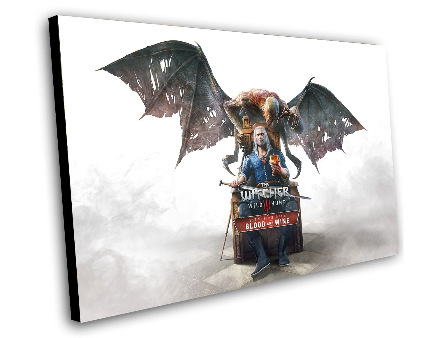 """The Witcher 3 Wild Hunt Blood and Wine Game 12""""x16"""" (30cm/40cm) Canvas Print"""