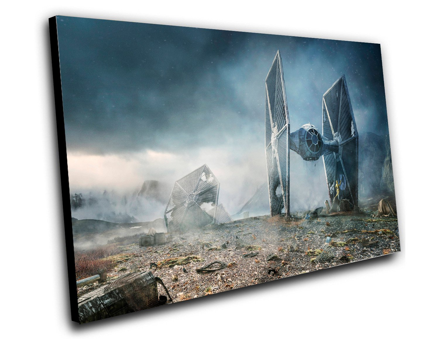 "Star Wars The Force Awakens Tie Fighter Movie 8""x12"" (20cm/30cm) Canvas Print"