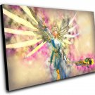 "Overwatch Mercy Game  8""x12"" (20cm/30cm) Canvas Print"