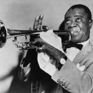 """Louis Armstrong  13""""x19"""" (32cm/49cm) Polyester Fabric Poster"""