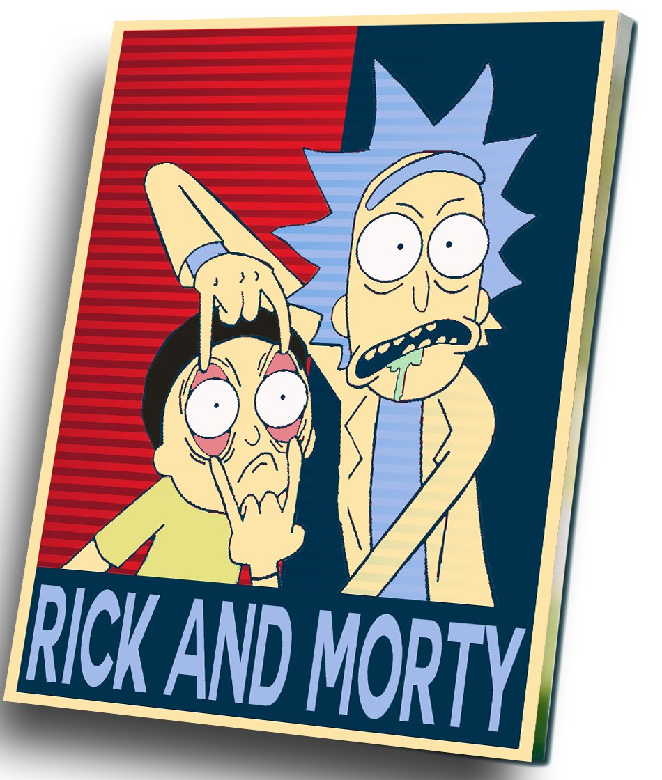 "Rick and  Morty  12""x16"" (30cm/40cm) Canvas Print"