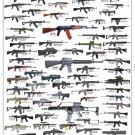 "Assault Rifles and Carbines Chart  18""x28"" (45cm/70cm) Poster"