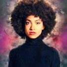 "Esperanza Spalding   13""x19"" (32cm/49cm) Polyester Fabric Poster"