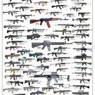"Assault Rifles and Carbines Chart 18""x28"" (45cm/70cm) Canvas Print"