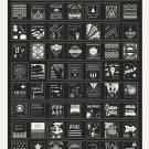 """Stylistic Survey of Graphic Design Chart 18""""x28"""" (45cm/70cm) Canvas Print"""