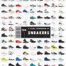 """A Visual Compendium of 134 Sneakers Chart 18""""x28"""" (45cm/70cm) Canvas Print"""
