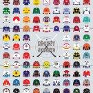 "A Visual Compendium of Hockey Jerseys Chart  18""x28"" (45cm/70cm) Canvas Print"