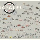 """Different types of Bicycles Chart  18""""x28"""" (45cm/70cm) Canvas Print"""