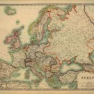"Map of Europe Old Style  18""x28"" (45cm/70cm) Canvas Print"