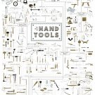 "The Chart of Hand Tools  18""x28"" (45cm/70cm) Poster"