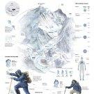 """Mount Everest Infographic Chart  18""""x28"""" (45cm/70cm) Canvas Print"""