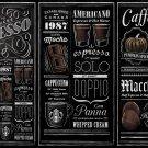 "Guide to Starbucks Espresso Chart  18""x28"" (45cm/70cm) Canvas Print"