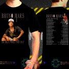Bruno Mars 24K Magic Tour Dates 2017 Black Concert T Shirt S to 3XL A3