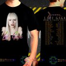 Lady Gaga Joanne World Tour Dates 2017 Black Concert T Shirt to 3XL A11