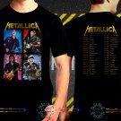 Metallica World Tour Dates 2017 Black Concert T Shirt to 3XL A15