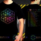 Coldplay A Head Full Of Dream World Tour Dates 2017 Black Concert T Shirt to 3XL A17