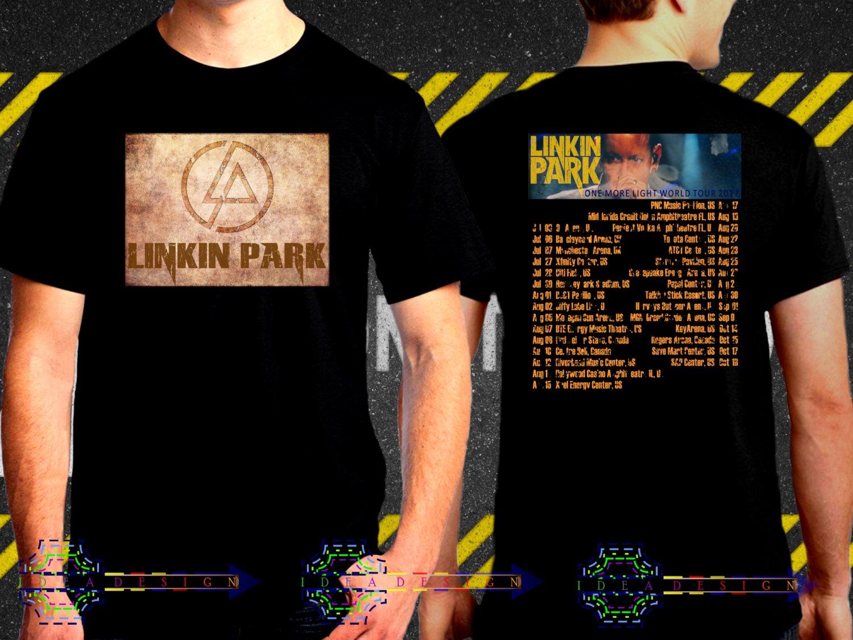 Linkin Park One More Light Tour Date 2017  Black Concert T Shirt S to 3XL A33