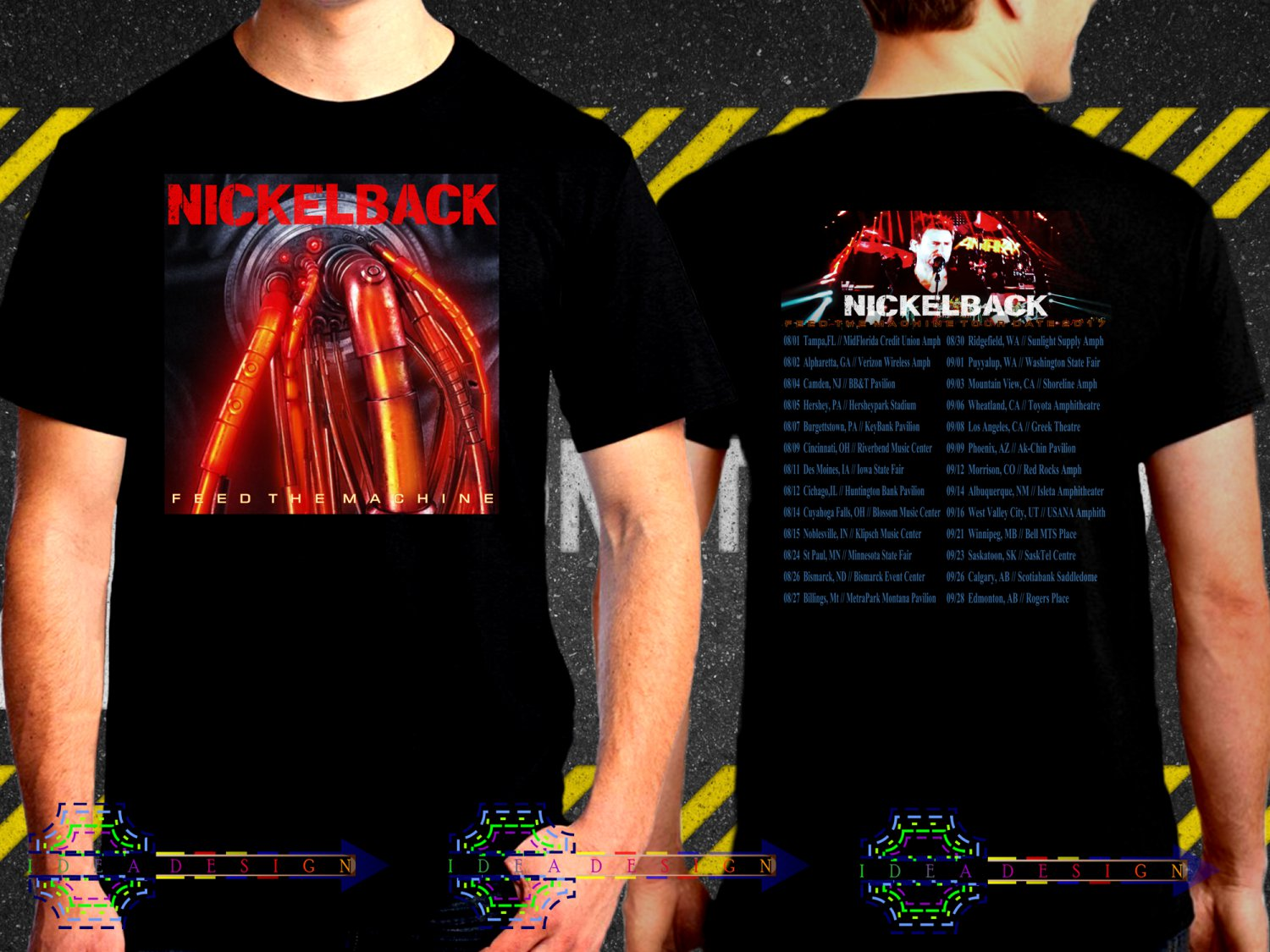 Nickelback Feed The Machine Tour Date 2017  Black Concert T Shirt S to 3XL A38