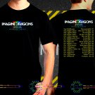 Imagine Dragons Tour Date 2017  Black Concert T Shirt S to 3XL A46