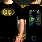 Styx United We Rock Tour Date 2017  Black Concert T-Shirt S to 3XL Styx2