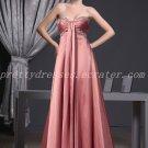 Stunning Empire Full Length Dusty Rose Formal Maternity Evening Dress