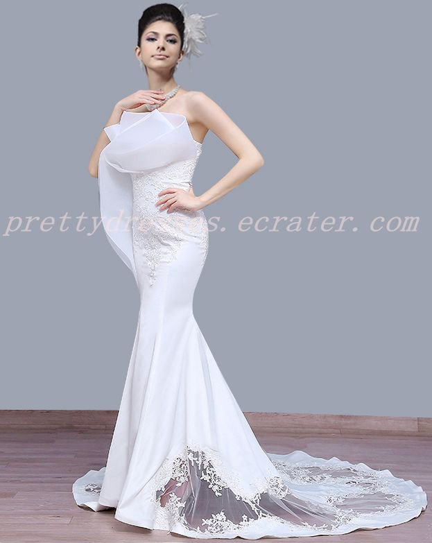 Special Trumpet/Mermaid Lace Wedding Dress Chapel Train