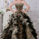 Unique Leopard Quinceanera Dress With Frills