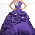 Beautiful Royal Blue Taffeta Sweet 15 Dresses With Lace