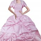 Sweet Ball Gown Pink Taffeta Quinceanera Dresses With Bolero
