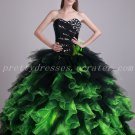 Vintage Green And Black Ball Gown Quinceanera Dresses With Sequins