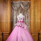 Stunning Double Straps Ball Gown Pink Quinceanera Dresses