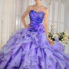 Exquisite Organza Lavender Princess Quinceanera Dresses