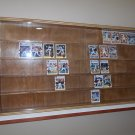 Showcase, Wall Display case cabinet for american football cards