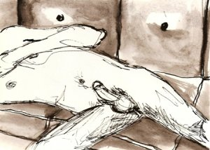 Couch - Original Pen & Ink Drawing