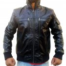 Handmade New Men Zipped Collar Style Superb Leather Jacket, Men leather jacket,