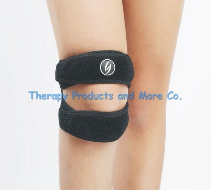 Patella Knee Support Double Belt Strap Brace Support-Adjustable and Breathable
