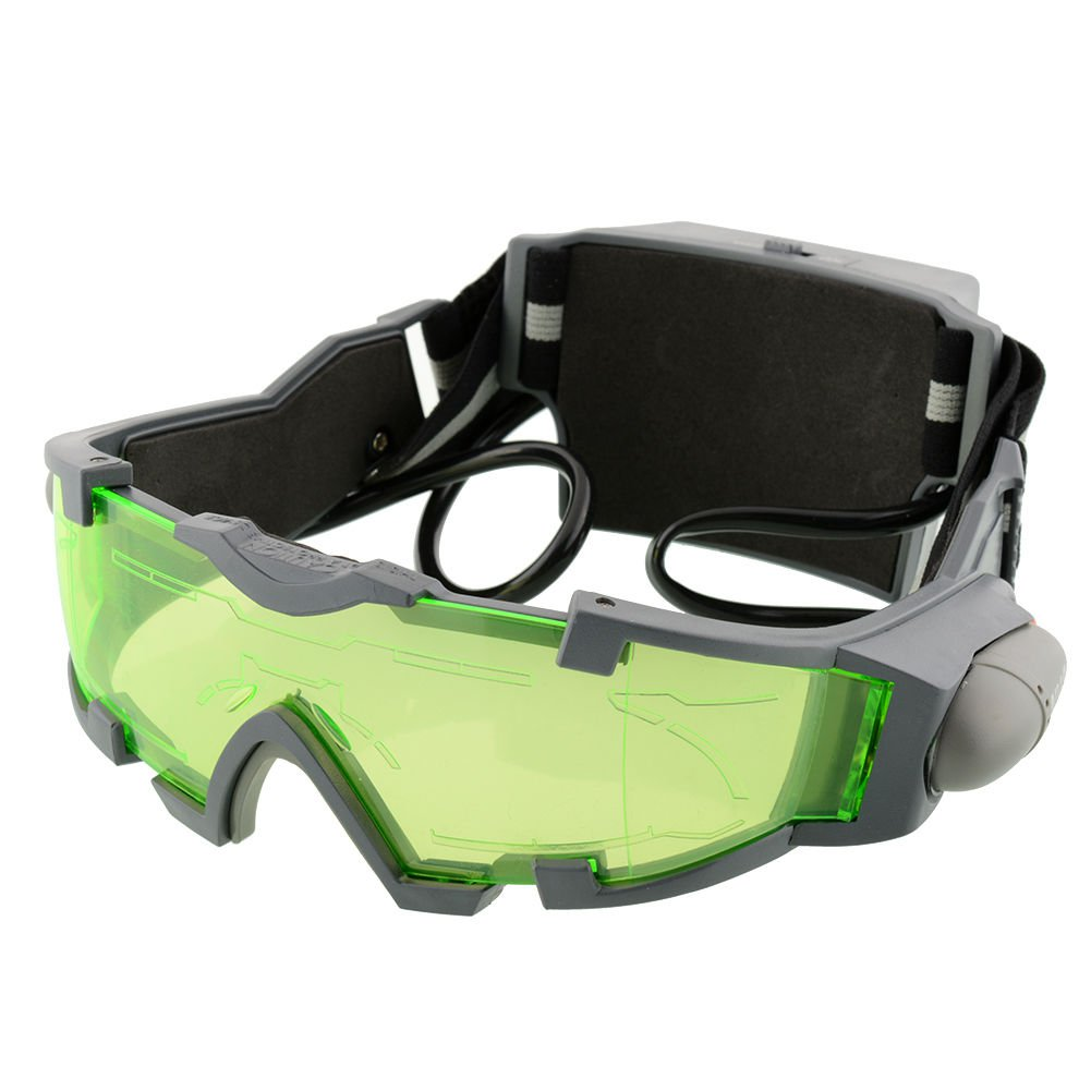New LED Night Vision Goggles Eye shield Green Lens eye protector view Glasses