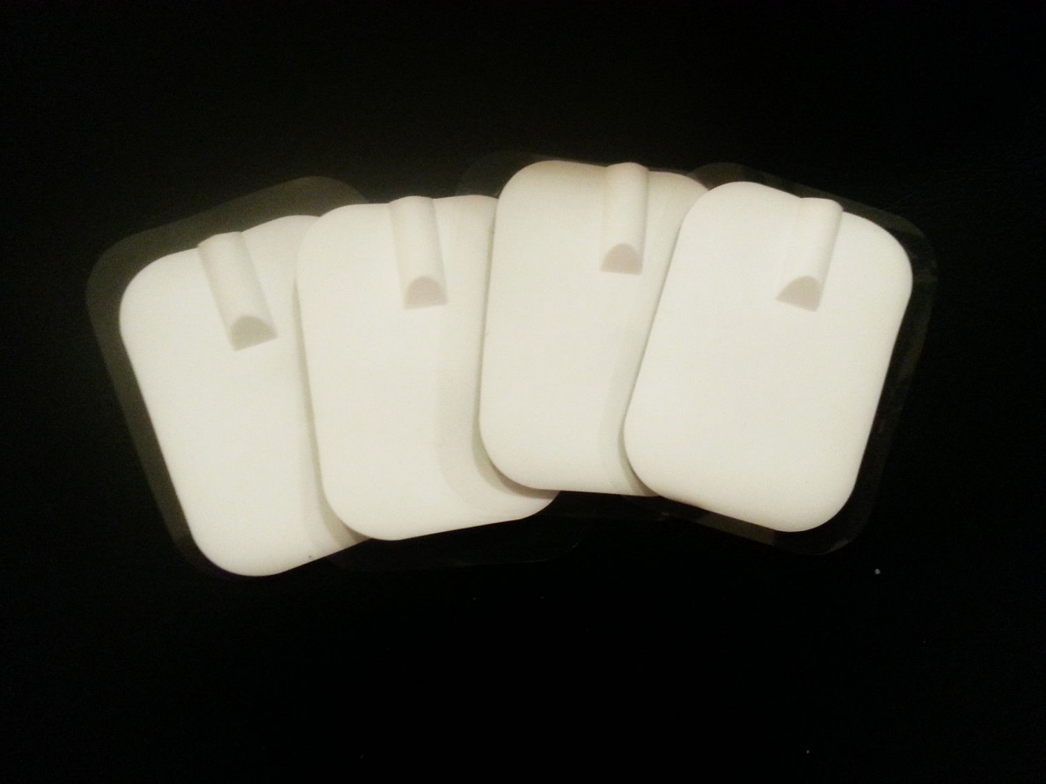 Electrode Pads Silicone Rubber (4) 2 Pairs 2mm Connection Massage Pads Reuse