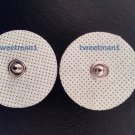 Small Replacement Massage Pads Electrodes Round (2) for Digital Massager TENS